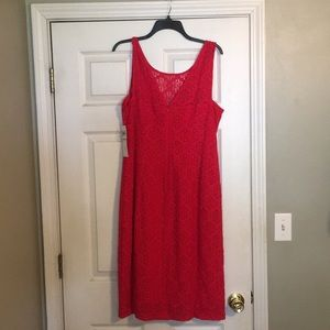 Brand new, berry colored lace dress